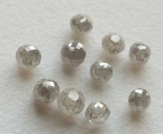 WHOLESALE 5 Pcs White Faceted Diamond Balls by gemsforjewels