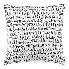 """Amazon.com: Unique Kate Spade New York """"This Is the Life"""" Square Throw Pillow in White/black- 18"""" W X 18"""" L: Home & Kitchen"""