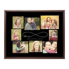 Mounted Wall Art: Love Infinity, Single piece, Brown, 16 x 20 inches, Black