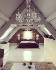 38 Lovely Romantic Master Bedroom Decorating Ideas - On the off chance that you are worn out on your master bedroom, you can join a couple of changes that have a major effect. Romantic master bedroom ins. Attic Master Bedroom, Attic Bedroom Designs, Romantic Master Bedroom, Attic Bedrooms, Attic Design, Attic Bathroom, Bedroom Loft, Bedroom Decor, Attic Bedroom Ideas Angled Ceilings