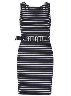 *Izabel London Navy Sleeveless Bodycon Dress