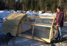 Hobbit Hole chicken tractor! That's right, a wheel kit and handles added on to our Lightfoot Coop with Attached Run makes your chicken's dream home a dream home on wheels!