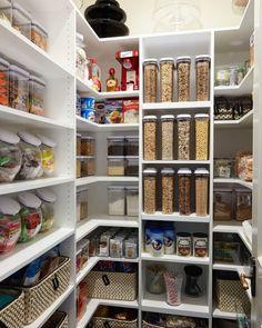 100 Smart Kitchen Organization Ideas For First Apartment In 2019 on Home Inteior Ideas 68 Kitchen Organization Pantry, Pantry Storage, Kitchen Pantry, Kitchen Storage, Organized Pantry, Organization Ideas, Pantry Ideas, Food Storage, Pantry Design