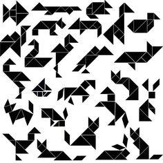 tangrams animals: