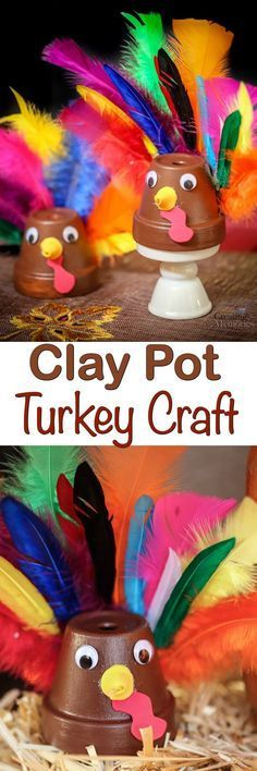 Looking for Last minute Thanksgiving crafts? You will love this easy Clay Pot Turkey Craft using a Terra cotta pot! It makes a fun DIY project for toddlers, kids preschool age and up or even adults!