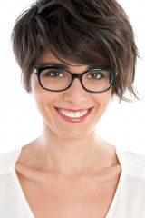 short hairstyles for women with glasses - Google Search
