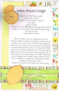 Recipe card layout