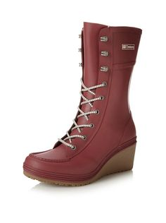 0ccccbbe www.myhabit.com Swedish massage technology gives a comfortable feel to this  molded wedge boot with an extensive lace-up panel, logo patch and treaded  ...