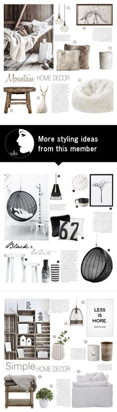 """""""Mountain Home Decor"""" by c-silla on Polyvore featuring interior, interiors, interior design, home, home decor, interior decorating, Alyx, Dot & Bo, Christopher Guy and H&M"""