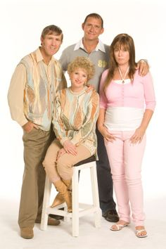 Kath and Kim. Just looking at these four makes me laugh!