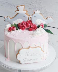 Очаровательнейший тортик на годовщину свадьбы Просто любовь с первого взгляда //#lavender_bakery #lavender_cake
