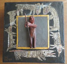Illegibly Signed Folk Art Outsider To Watch While Others Sleep Carving Sculpture