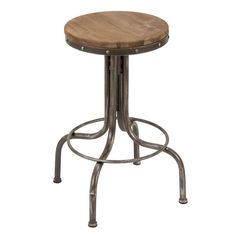 The height of this bar stool can be adjusted up to maximum comfortable level. This round shape with wooden seat is made over sturdy steel pipe structure.