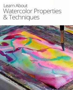 New to the world of watercolor paints? Learn how working with wet and dry paper affects the look of your painting and other essential techniques.