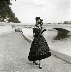 Willie Maywald 1958 Robe du Soir de St-Laurent pour Dior