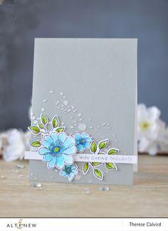Altenew - Garden Treasure - Doodle Blooms - Splatter Stencil - Lostinpaper (card) 1 copy