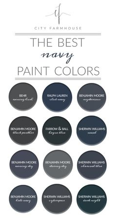 City Farmhouse - The Best Navy Paint Colors Hale navy and club navy