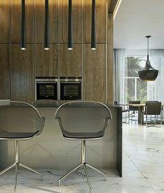 La tendencia es incorporar el espacio de #cocina a las areas sociales de la casa desligando imagen tipica de una cocina convencional con un mueble minimalista moderno muy limpio sin molduras ni relieves ni tiradores. Como los traidos por el equipo de...