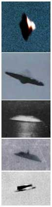 Daytime photos of various types of discoid UFOs from around the world: Japan, Peru, France and last 2 from USA