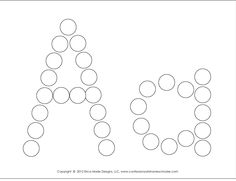 Do-a-dot alphabet worksheets. FREE Download. http://www.confessionsofahomeschooler.com/blog/2012/12/a-z-do-a-dot-worksheets.html