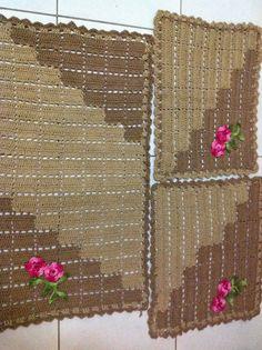 blog atelie do barbante- receita de tapetes duas cores - Pesquisa Google