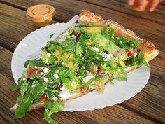 Abbot Kinney Salad Pizza. Seriously one of my favorite LA lunches!