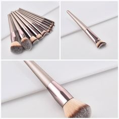 New Women's Fashion Brushes Set Tools Leather Tool Belt, Leather Tooling, Dark Circle Cream, It Cosmetics Foundation, Brush Sets, Professional Makeup Artist, Pony Hair, Eyeshadow Brushes, Makeup Brush Set