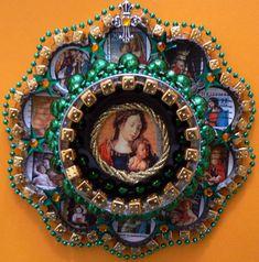 Tuna can shrine made by Cyndi Kovack via the Crafty Chica