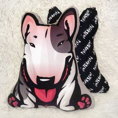 Bull Terrier Pillow, bully pillow, dog lover gift idea, cuddly bull terrier, stuffed dog, Psiakrew