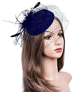 de5e921c1b397 Urban CoCo Women s Vintage Flower Feather Mesh Net Fascinator Hair Clip Hat  Party Wedding (Beige) at Amazon Women s Clothing store