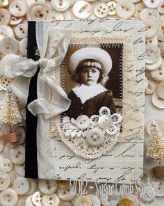 Sweet Curly Locks HANDMADE Pocket Journal by sugarlumpstudios