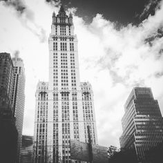 Woolworth Building In Black And White by CalvinsPhotos on Etsy