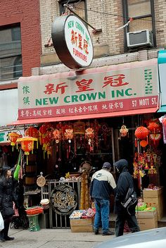 Magazine and Souvenir shop in Chinatown New York City