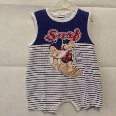 Pagliaccetto neonato Sette nani blu taglia 9 mesi idea regalo Walt Disney