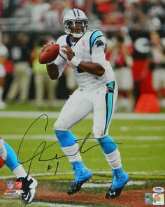 Cam Newton signed Carolina Panthers action 16x20 photo. Item comes with a PSA/DNA tamper evident numbered sticker and matching Certificate of Authenticity which can be verified online.