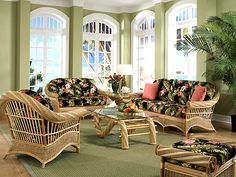 Maui Twist Sunroom Set And Individual Pieces E Island By Yesteryear Rattan Furniture