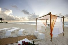 beach wedding - although this would be perfect for just a canopy to relax under with your main squeeze :)