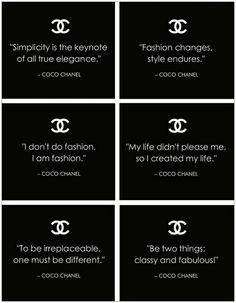 Famous Quotes By Coco Chanel free filofax printables Citation Coco Chanel, Coco Chanel Quotes, Great Quotes, Quotes To Live By, Me Quotes, Inspirational Quotes, Qoutes, Style Quotes, Motivational Quotes