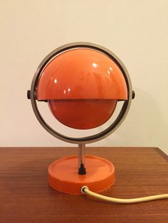 Danish vintage space age table and wall lamp from by Deerstedt