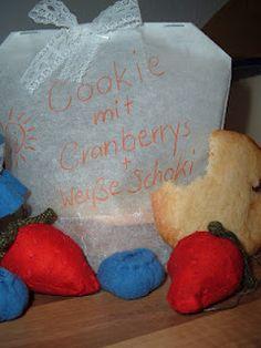 Cookies mit Cranberrys und weißer Schokolade