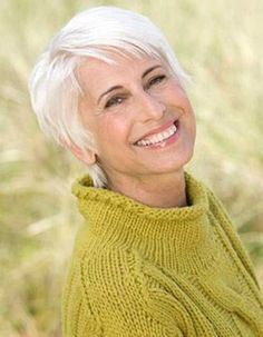 Straight Hair Pixie Cuts for Mature Ladies