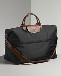 Longchamp Le Pliage Expandable Travel Duffel Nylon Weekender Handbags - All Handbags, Wallets & Small Accessories - Bloomingdale's Nylons, Travel Tote, Travel Luggage, Tote Bag, Crossbody Bag, Longchamp Le Pliage, Nylon Tote, Burberry Handbags, Airport Fashion