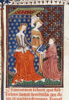 Author Giovanni Boccaccio Title De claris mulieribus in an anonymous French translation (Le livre de femmes nobles et renomées) Origin France, N. (Rouen) Date c. 1440 Language French Royal 16 G V f. 2