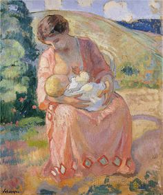 Mother and Child, by Henri Lebasque (1865–1937)