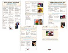 Sensory Diet Activity Reference Sheet: Your Kids OT