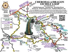 Tail of the Dragon Road Maps