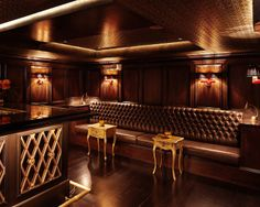 Gaspar bar, United States, by Consortium _ rich coloured bar, maroon textures