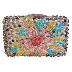 Flower Bag Women Luxury Diamond Evening Bag Ladies Purse Pochette Crystal Day Clutches Bling Party_6     https://www.lacekingdom.com/