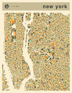 Poster | NEW YORK MAP von Jazzberry Blue | more posters at http://moreposter.de