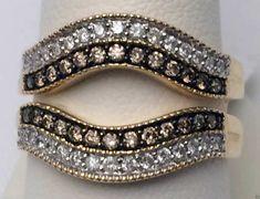 10kt Yellow Gold Solitaire Enhancer Champagne White Diamonds Ring Guard Wrap (0.56ct. tw) by RG&D... #gold #diamonds #ringguard #wrap #enhancer #fashion #jewelery #love #gift #ringjacket #engagement #wedding #bridal #engaged #whitegold #yellowgold #online #shopping #jewelry #pintrest #follow #champagne #richmondgoldanddiamonds